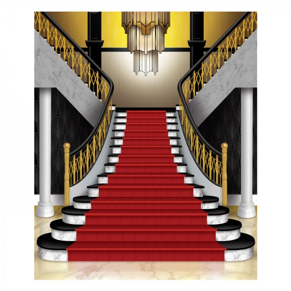 Dekofolie Großes Treppe - Goldene 20er Jahre Deko