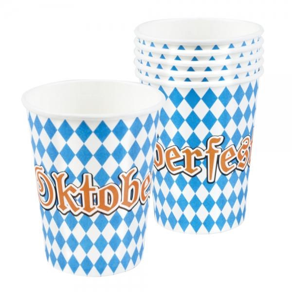 Pappbecher Oktoberfest - Bayern Tischdeko