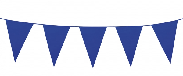 Mini-Wimpelkette Blau