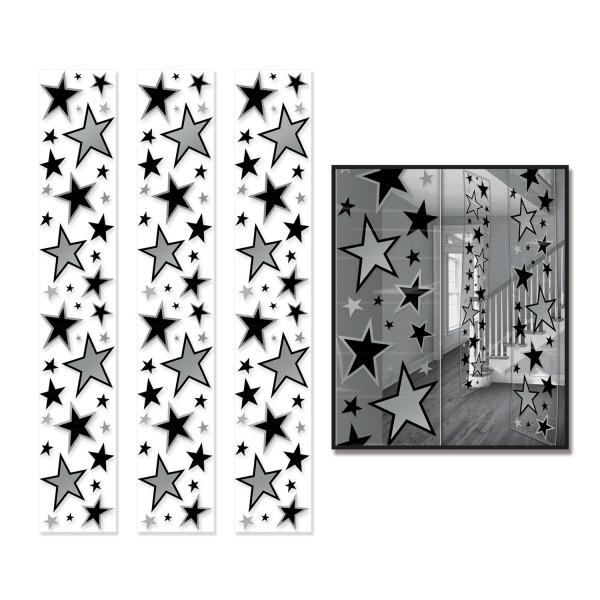 Raumteiler-Folien Silver Starlight, 30 x 182 cm, 3er Pack
