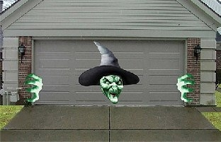 Dekofolien-Set Gruselhexe - Halloween Hexen Deko