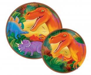 Pappteller Dinosaurier - Dino Tischdeko