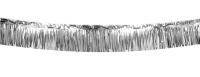Party-Extra XL-Metallic Ftransenbanner silber, 6 Meter