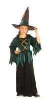 Kinderkostüm Grüne Hexenlady 5-6 Jahre