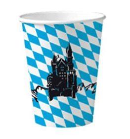 Pappbedher Neuschwanstein - Oktoberfest Tischdeko