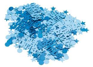 Tischkonfetti Blaue Geburtstagsfeier