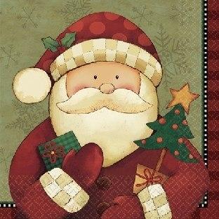 Servietten Santa Claus - Weihnachtsdeko