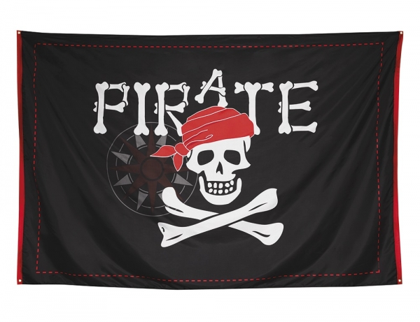 XXL-Piratenbanner Jolly Roger, 200 x 300 cm groß