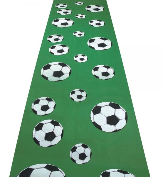 Party-Extra Teppichläufer Fußballparty - Fußball Deko