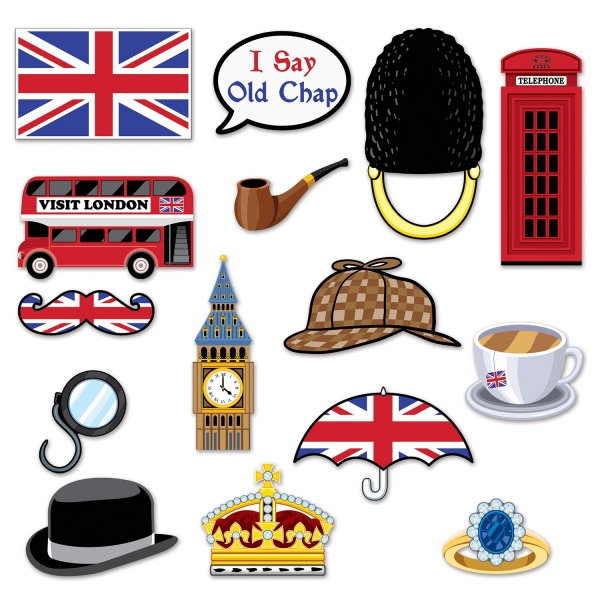 Very British Fotofun Cutout Set - England Deko