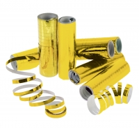 Gold Metallic Folienluftschlangen 4m