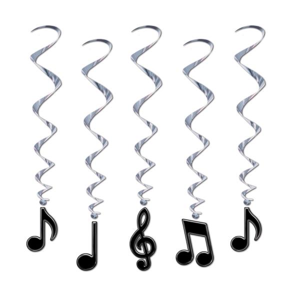 Party-Extra Spiralhänger Noten - Musik Deko