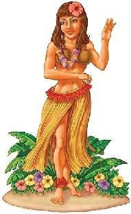 Dekofolie Retro-Hula - Hawaii Party Deko