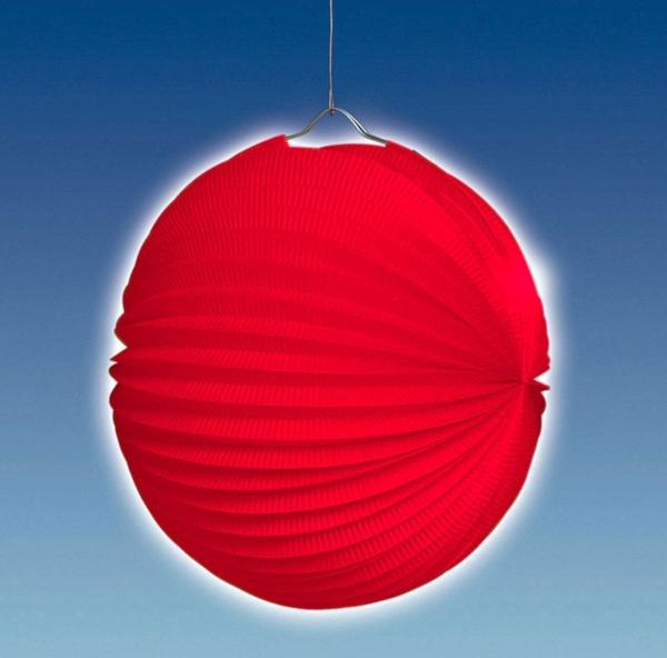 Party-Extra Lampion rot - luftig-leichte Hängedeklo