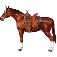 Party-Extra Cutout Westernpferd, 85 x 70 cm - Cowboy Deko