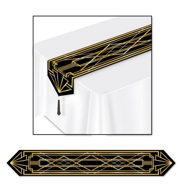 Papp-Tischläufer Goldene 20er