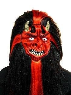 Latexmaske Teufelskopf - Halloween Masken
