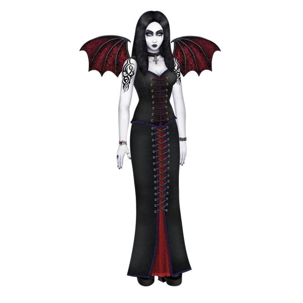 Riesen Cutout-Figur Königin der Nacht - Vampir Deko