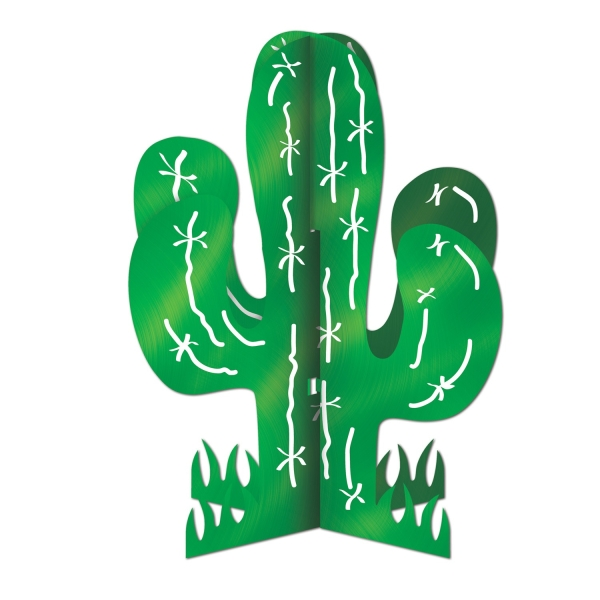 Tischkdeko Kaktus, 28 cm - Mexikoparty Deko