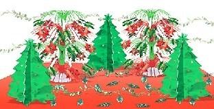 Mega Tischdeko-Set Merry Christmas, 76-teilig