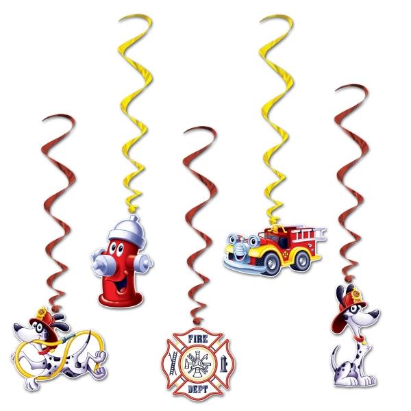 Spiralhänger Feuerwehr, 5er Pack
