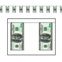 Wimpelkette US-Dollars, 3,70 m lang