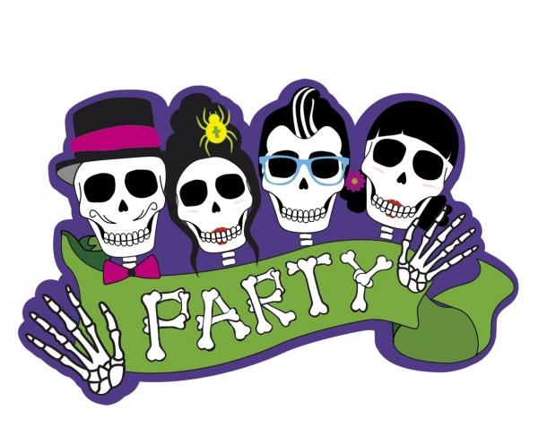 Dekoschild Sugar Skull Mexikoparty - Dia de los Muertos Deko