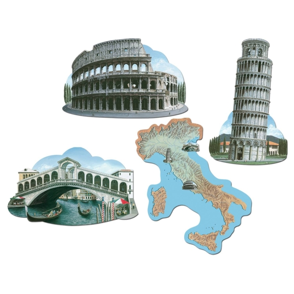 Cut-out-Set Italien, 4er Pack je 40cm groß