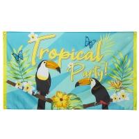 Dekofahne Tropical Party - Beach Party Deko