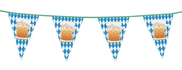 Party-Extra Wimpelkette Oktoberfest-Bier, 6 Meter