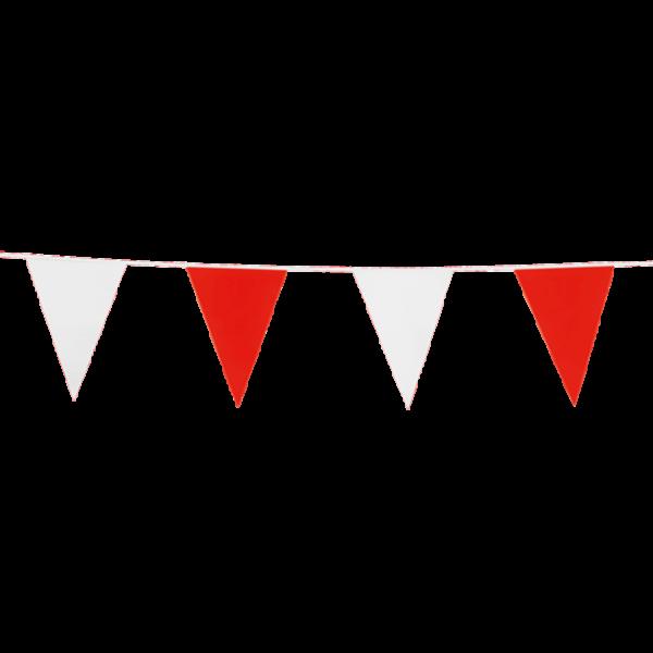 Wimpelkette rot-weiß - Vereinsfarbendeko
