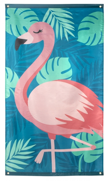 Stoffbanner Pink Flamingo - Flamingoparty Deko