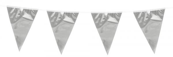 Mini-Wimpelkette Pure Silver - Silberne Glamour Deko