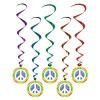 Party-Extra Dekohänger Hippie Party - 70er Jahre Deko