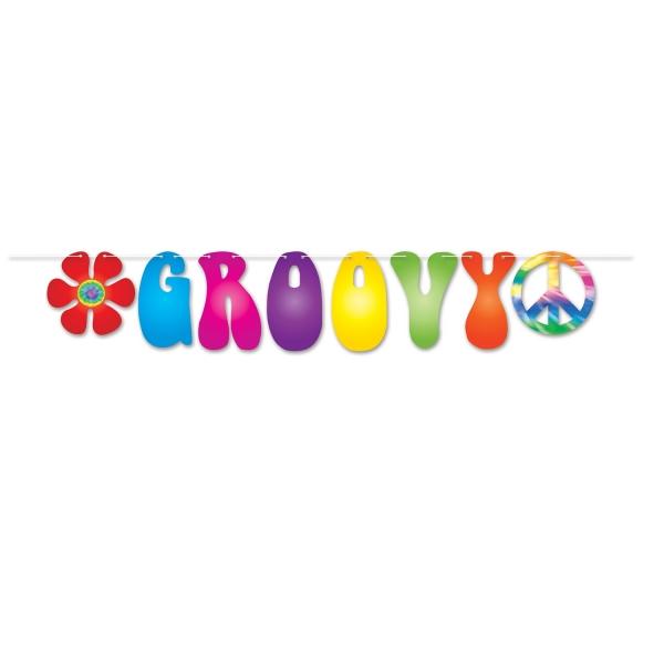 Groovy-Girlande 70er Jahre - Hippie Deko