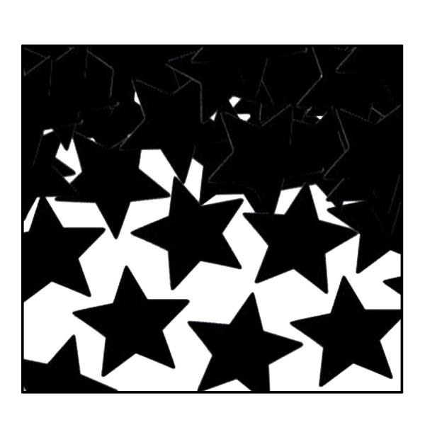 Party-Extra Tischkonfetti Schwarze Sterne - Tischdeko festlich