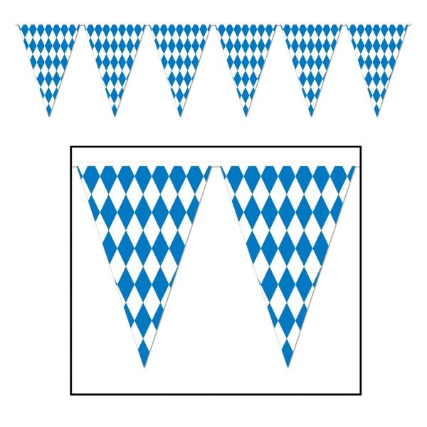 XXL-Wimpelkette Bayerische Raute, 36 Meter - Oktoberfest Deko