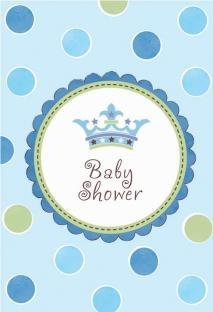Einladungskarten Baby Shower, blau