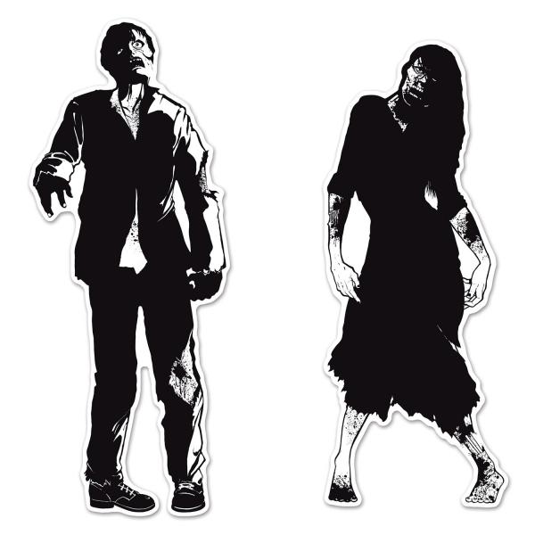 Zombie-Silhouetten - Halloween Deko