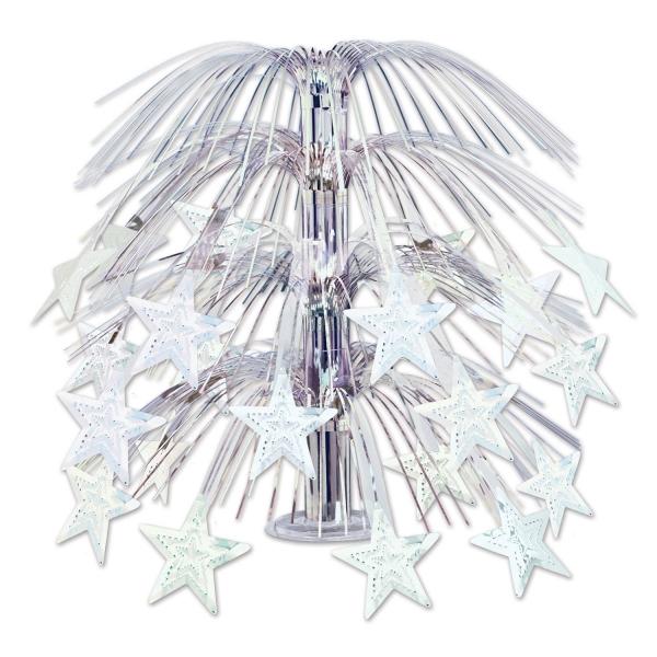 Party-Extra Große Tischkaskaade Silver Stars