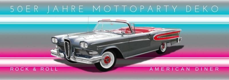 50er Jahre Mottoparty Deko Rock + Roll American Diner Rockabilly Partydeko D