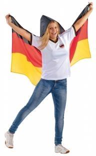 Deutschland Poncho - Länderspiel Deko