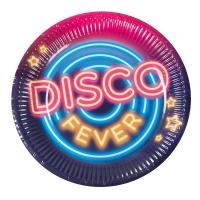 Pappteller Disco Fever, 23 cm, 6er Pack