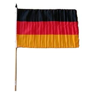 Deutschland-Fahne am Holzstab
