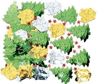 Tischkonfetti Weihnachtsbaum, 14 g pro Pack