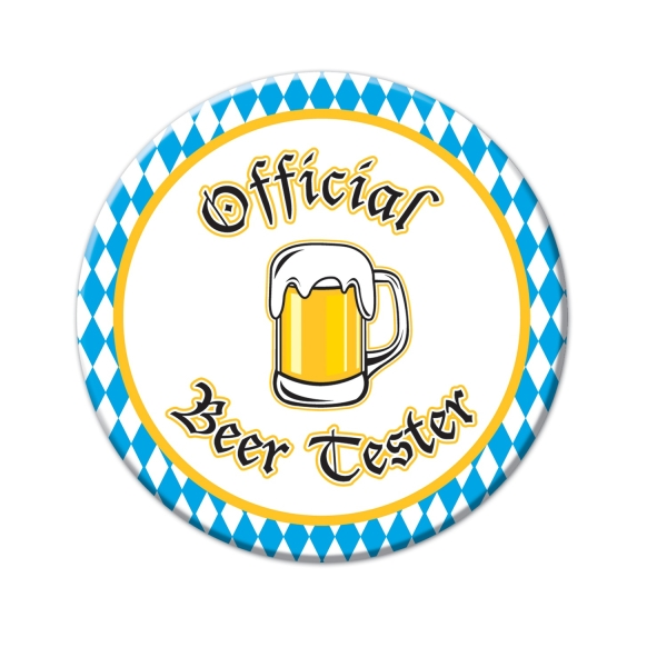 Ansteck-Button Official Beer Tester - Oktoberfest Zubehör