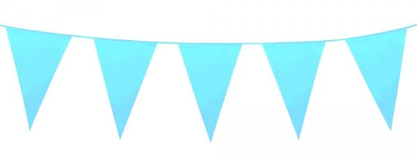 Mini-Wimpelkette Hellblau