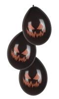 Luftballons Spooky Pumpkin, 6er Pack