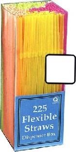 Bunte Flexi-Strohhalme, Packung mit 225 Stück