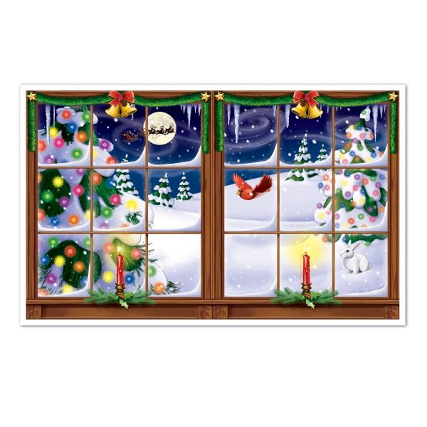 Dekofolie Winterliche Weihnachtsromantik, 70 cm x 155 cm groß